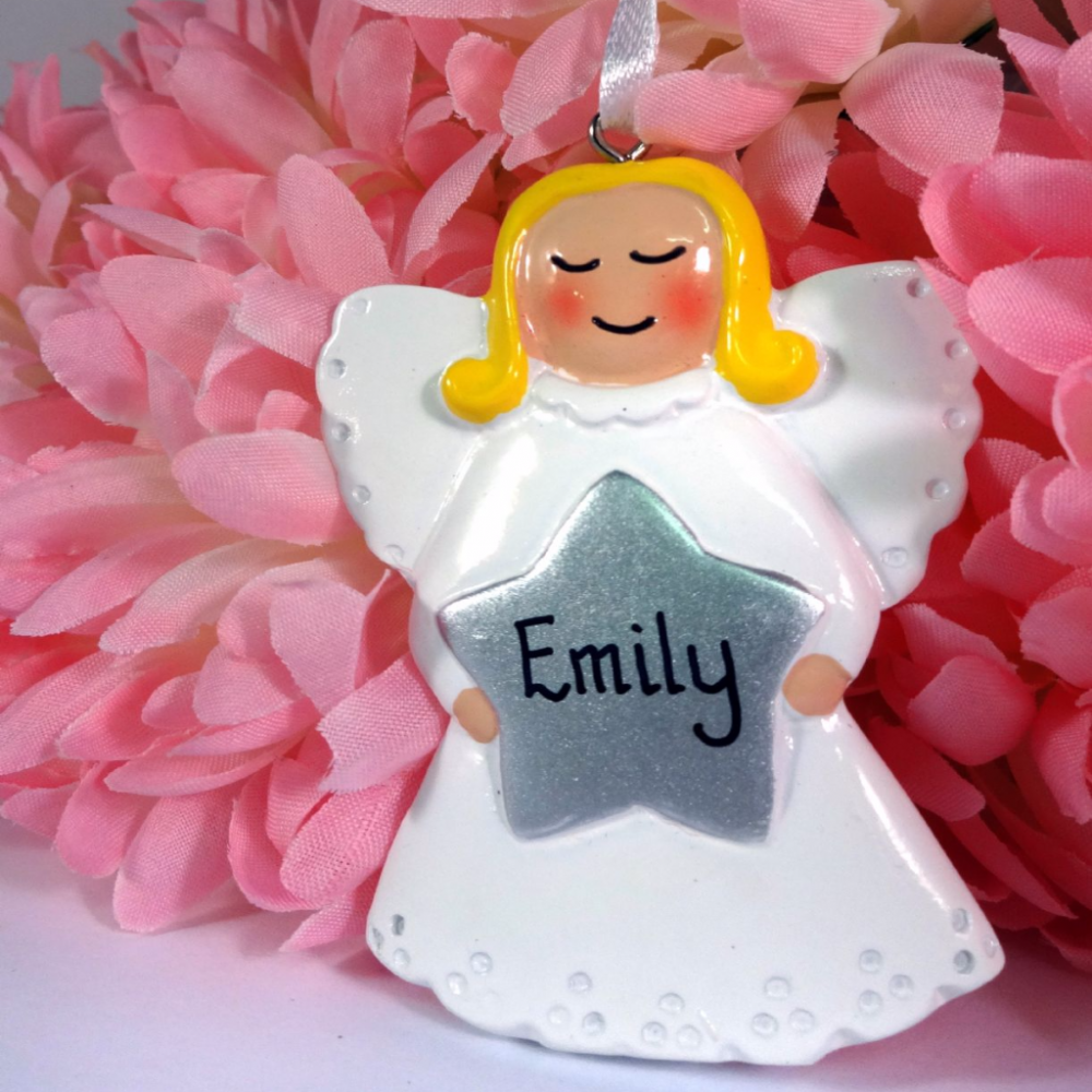 Personalised Angel with Silver Star